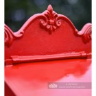"""Blushed Peony"" Red Goldhay Post Box Decorative Top"