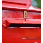 """Blushed Peony"" Red Goldhay Post Box Letter Slot"