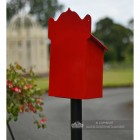 """Blushed Peony"" Red Goldhay Post Box Rear"