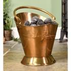 """Colnbrook Manor"" Antique Brass Coal Bucket in Situ"