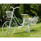"""Elmstead Gardens"" Antique White Bike Planter"