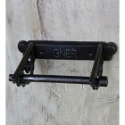 'GNER' Cast Iron Toilet Roll Holder