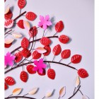 """Close-up of the Vibrant Colour on the """"Hearts Desire"""" Wall Art"""