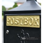"""Malabar Peppercorn"" Black Suffolk Post Box Gold Letter Flap"