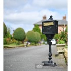 """Malabar Peppercorn"" Black Suffolk Post Box Installed On Driveway"