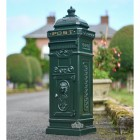 """Pine Forest"" Green Camden Free Standing Post Box"