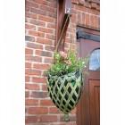 """""""Strawberry Lane"""" Deep Latticework Hanging Basket in Situ"""