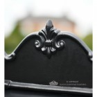 """Twilight Shadows"" Black Goldhay Post Box Decorative Top"