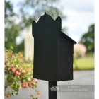 """Twilight Shadows"" Black Goldhay Post Box Rear"