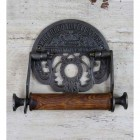 'Waterloo' Antique Iron Toilet Roll holder