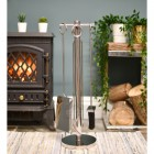 Contemporary Stainless Steel  Fireside Companion set