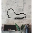 Albert Park Grand Prix Circuit Wall Art in the Living Room