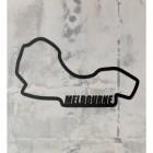 Albert Park Grand Prix Circuit Wall Art on a Rustic Grey Wall