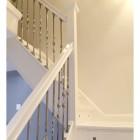Alessi Single Bold Twist Stainless Steel Stair Spindle In Situ