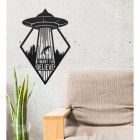 """""""I Want to Believe"""" Alien Wall Art in the Siting Room"""
