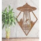 """""""I Want to Believe"""" Alien Wall Art in Situ"""