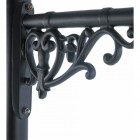 Close-up of the Ornate Wall Bracket Finished in Black