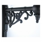 Ornate Wall Bracket Finished in black