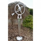 Antique Silver Armillary with Column in Situ