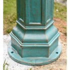 Antique Blue Cast Iron Lamp Post Base Plate
