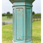 Antique Blue Lamp Post Standard With Inspection Panel