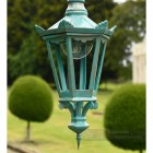 Antique Blue Six Sided Gothic Style Lantern