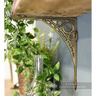 Antique Brass Effect Cast Iron Wall Bracket