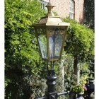 Antique Brass Gothic Lamp Post & Lantern Set 2.7m