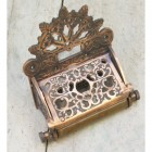 """Eveline"" Antique-Finish Brass Vintage Toilet Roll Holder"