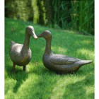 Antique Bronze Finish Duck Garden Sculptures