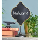 Free Standing Table Top Antique Bronze Vintage Chalk Board