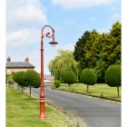 Antique Cast Iron Lamp Post On House Driveway