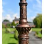 Antique Copper Cast Iron Lamp Post Column