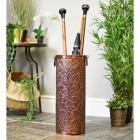"""""""Montania Manor"""" Umbrella Stand in a Copper Finish"""