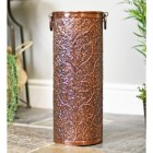 Brass Ornate Umbrella Stand Finished in Antique Copper