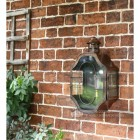 Antique Copper Nautical Inspired Flush Wall Light Installed