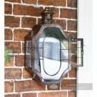 Antique Copper Nautical Inspired Flush Wall Light With Opening Side Door