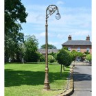 Antique Gold Deluxe Lamp Post on driveway of period property