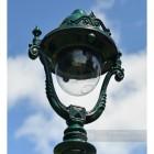 Antique Green Opulent Cast Iron Lamp Post Luminaire