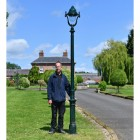 Antique Green Opulent Cast Iron Lamp Post Scale Image