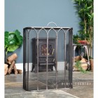 Antique Pewter Gothic Fire Guard in Situ by the Fire Place