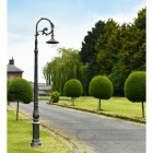 Antique Silver Cast Iron Lamp Post In Period Driveway Setting