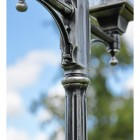 ORnate Design on the Antique Silver Lamp Post