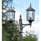Close-up of the Traditional Double Headed Lanterns on the Lamp Post Set