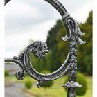 Antique Silver Lamp Post Scroll Work