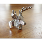 Antique Silver Stag Napkin Ring