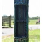 Antique Verdigris Green Lamp Post Column With Inspection Panel