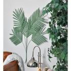 """Areca Palm"" Leaves Wall Art in Situ"