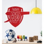Personalised ' Arsenal Cannon' Wall Art in Red