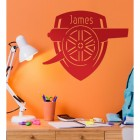 Personalised 'Arsenal Cannon' Wall Art